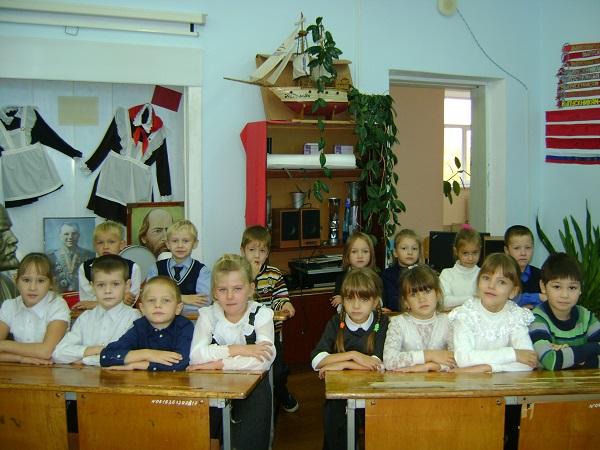 1 класс на экскурсии в школьном музее